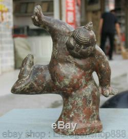 12 Bronze Chinois Ancien Statue Japonaise Sumo RIKISHI Sculpture