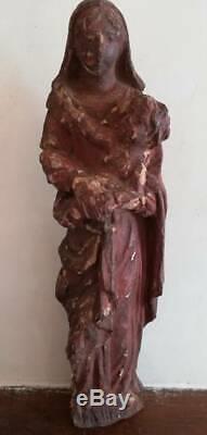 13080 de Ancienne Vierge À L' Enfant Etat Correct