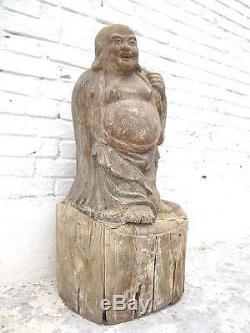90 années de la statue de Bouddha Figure Sculpture migratoire Chine anciennes du