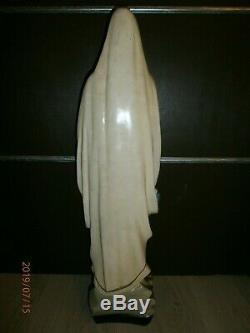 ANCIENNE STATUE RELIGIEUSE/Notre Dame de Lourdes/XXéme/H. 66cm/PLATRE PEINT