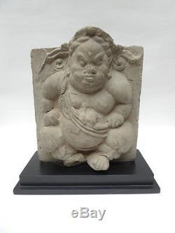 ANCIEN ELEMENT DE MAISON DIVINITE CHINE PERIODE ANTERIEUR AU 19ème siècle