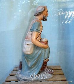 ANCIEN GRAND SANTON DÉGLISE BERGER St JEAN agenouillé HAUTEUR 47 cm