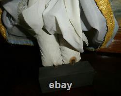 ANCIEN SANTON NAPOLITAIN VIERGE MARIE hauteur 30 cm serie des 38/40 cm