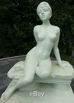 ART NOUVEAU Emmanuel VILLANIS / CAPTIVE / SUPERBE GRAND PLATRE ANCIEN