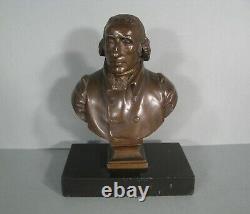 Achille Collas sculpture ancienne buste bronze Président Etats-Unis Jefferson