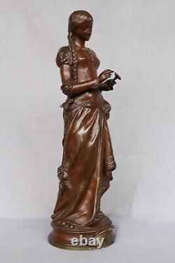 Ancien Bronze Signé A. GAUDEZ Marguerite Hors Concours Napoléon