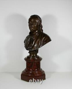 Ancien Bronze Signé F. Barbedienne & Collas Benjamin Franklin bronze tournant
