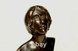 Ancien Bronze Signé Jiri Karpelès Dit Georges Kars Buste Art Nouveau