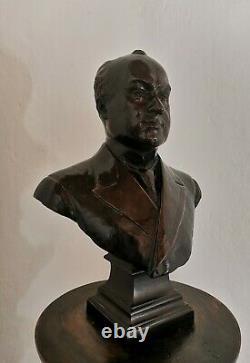 Ancien Bronze Signé L. CHAVALLIAUD Buste Portrait Fondeur E. GRUET JEUNE PARIS