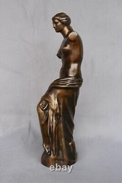 Ancien Bronze Venus De Milo Napoleon Mythologie Déesse Amour Statue Sculpture