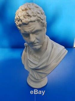 Ancien Buste En Pltre Représentant L'empereur Romain Caracalla