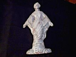 Ancien Statue Sculpture Vierge Marie Céramique 1950 Grès Flammé Signé Condoret