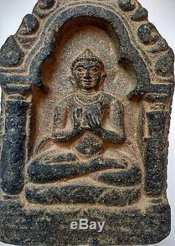 Ancien bouddha en grès enseignement Dynastie Pala Inde du Nord 9/10e