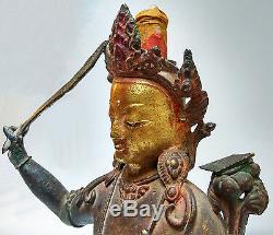 Ancien bronze représentant Manjushri bodhisattva Jampa Népal