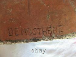 Ancien buste en terre cuite représentant DEMOSTHENE fin 19e siècle 101.23