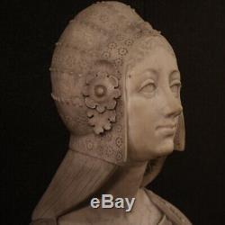 Ancien buste italien en marbre sculpture statue 800 19ème siècle noble dame