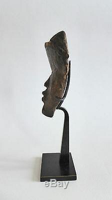 Ancien petit MASQUE PASSEPORT DAN BOIS COTE D'IVOIRE AFRIQUE STATUE SCULPTURE