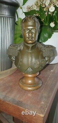 Ancien petit buste en bronze de Napoléon I er Époque XIX ème