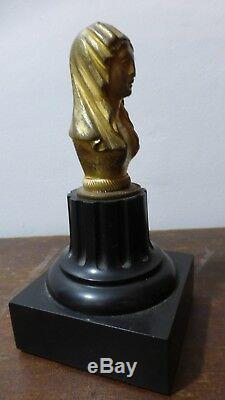 Ancien presse-papier. Buste féminin. Ancien Bronze. Ecole XIXème. Paperweight
