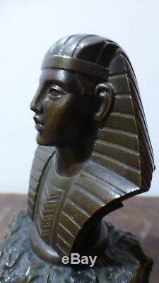 Ancien presse-papier. Pharaon. Bronze du XIXème. Antique Paperweight. Pharaoh