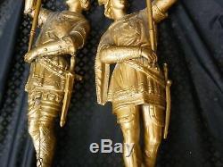 Ancien régule soldats garde porte torchère XIX °