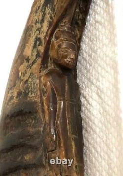 Ancienne Sculpture de Bouddha Corne de Bovidé Art Thaïlandais