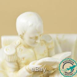 Ancienne Sculpture en Biscuit Napoléon Ier et son Fils, le Roi de Rome