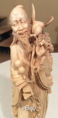Ancienne Sculpture en matière NOBLE hauteur statue 25,5cm