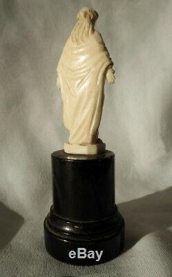 Ancienne Sculpture religieuse, vierge en majesté, xixe siecle Normandie