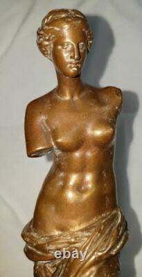 Ancienne Statue Bronze Venus De Milo Signe F. Barbedienne Hauteur 22cm