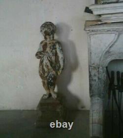 Ancienne Statue Chérubin en Fonte d'Art Durenne