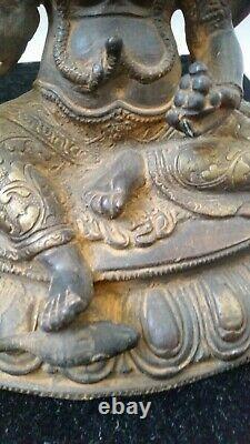Ancienne Statue Ganesh en bronze
