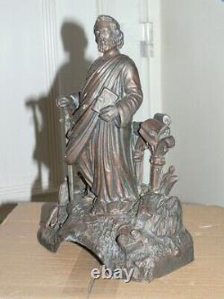 Ancienne Statue, Saint Paul Avec Son Glaive, Regule