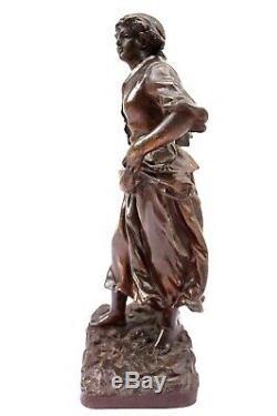 Ancienne Statue Sculpture En Regule Rancoulet