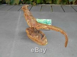 Ancienne charmante sculpture en bronze XIX ème représentant un FAISAN VENERE