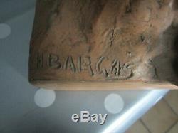 Ancienne grande terre cuite mouette signé H Bargas