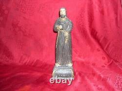 Ancienne sculpture statue en bois saint antoine de padou époque 19é