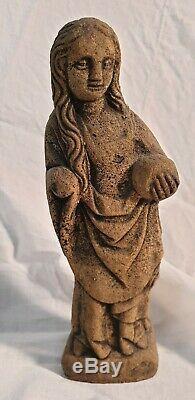 Ancienne statue en pierre vierge style gothique