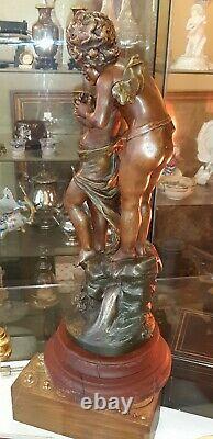 Ancienne statue en régule LE NID par L & F Moreau médaille d'or