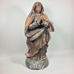 Ancienne statue religieuse en terre cuite