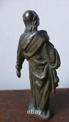 Ancienne statuette sculpture bronze. Saint personnage. XVIIIème. Antique bronze
