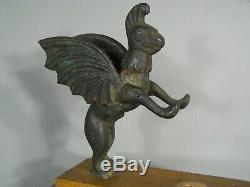 Animal Fabuleux Chimère Ancienne Sculpture Bronze Style Antique