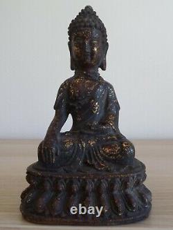 Antique Ancien Bronze Chinese MING BUDDHA BOUDDHA Chinois Chine China 17th C