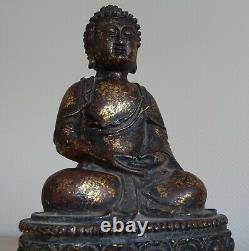 Antique Ancien Bronze Chinese Quing BUDDHA BOUDDHA Chinois Chine China 18th C