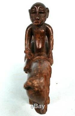 Art Africain Ancien & Authentique Cavalier de Divination Senoufo 26,5 Cms ++