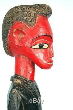 Art Africain Ancien Colon Baoulé Classe & Nonchalance Années 70 36 Cms
