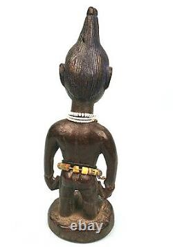 Art Africain Ancien Ibeji Yoruba Yorouba Pièce d'Utilisation Tribale 23Cms