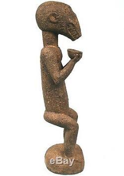 Art Africain Ancien et Authentique Singe Mendiant Mbotumbo Baoulé 68 Cms +++