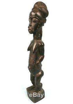 Art Africain Ancienne Epouse Mystique Blolo Bla Baoulé Baule Item 48 Cms