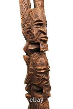 Art Africain Ancienne Statue Tellem Dogon Couple Superposé 68 Cms ++++++++